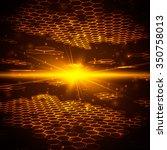 abstract background  hexagonal... | Shutterstock .eps vector #350758013