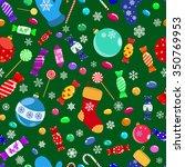 seamless pattern of candies ... | Shutterstock . vector #350769953