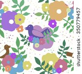 color seamless pattern with... | Shutterstock .eps vector #350779457