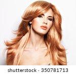 portrait of a beautiful woman... | Shutterstock . vector #350781713