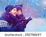 happy father and son having fun ... | Shutterstock . vector #350788697