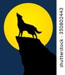 wolf howling  designed using... | Shutterstock .eps vector #350802443
