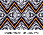 geometric ethnic pattern design ... | Shutterstock .eps vector #350802593