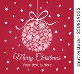 merry christmas ball on star...   Shutterstock .eps vector #350829023