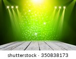 green stage background  | Shutterstock . vector #350838173