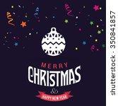 christmas ornament balls... | Shutterstock .eps vector #350841857