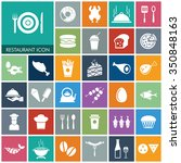 vector food icon set. | Shutterstock .eps vector #350848163