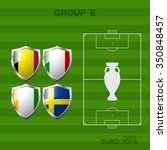 euro 2016 group a in soccer | Shutterstock .eps vector #350848457
