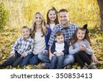 beautiful young family portrait ...   Shutterstock . vector #350853413
