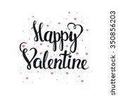 happy valentine. hand drawn... | Shutterstock .eps vector #350856203