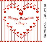 valentines day card  heart... | Shutterstock .eps vector #350859143