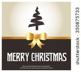merry christmas card  stylized... | Shutterstock .eps vector #350875733