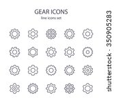 gear icons. | Shutterstock .eps vector #350905283