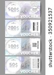 set of modern gift voucher... | Shutterstock .eps vector #350921537
