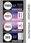 set of modern gift voucher... | Shutterstock .eps vector #350921843