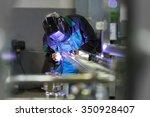 industrial worker with... | Shutterstock . vector #350928407