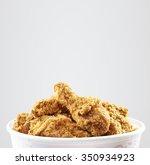 crispy kentucky fried chicken... | Shutterstock . vector #350934923