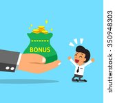 business big hand giving bonus... | Shutterstock .eps vector #350948303