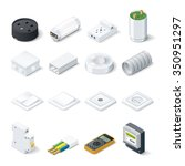home electric isometric icon... | Shutterstock .eps vector #350951297