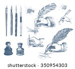 vintage hand drawn hands... | Shutterstock .eps vector #350954303