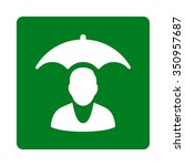 client safety vector icon.... | Shutterstock .eps vector #350957687
