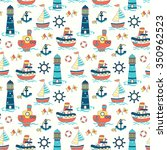 cute  seamless baby background... | Shutterstock . vector #350962523