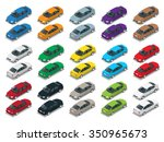 isometric car sedan. big... | Shutterstock .eps vector #350965673