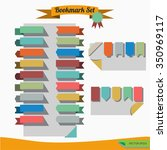 set of flat ribbons bookmark. | Shutterstock .eps vector #350969117