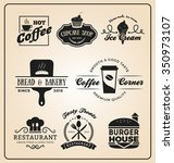 set of food and drink badges... | Shutterstock .eps vector #350973107