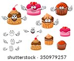 delicious cartoon chocolate... | Shutterstock .eps vector #350979257