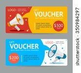 gift voucher. flat design.... | Shutterstock .eps vector #350984297