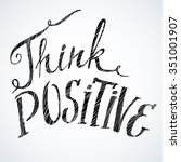 think positive. modern... | Shutterstock .eps vector #351001907