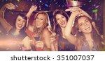 flying colours against pretty... | Shutterstock . vector #351007037