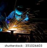 welder industrial automotive... | Shutterstock . vector #351026603