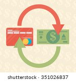 redit card and cash.... | Shutterstock .eps vector #351026837