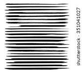 set of long thin strokes of... | Shutterstock .eps vector #351041027