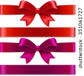 color bows with gradient mesh ... | Shutterstock .eps vector #351061727