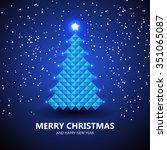 stylized christmas tree... | Shutterstock .eps vector #351065087