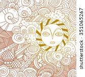 ethnic pattern   Shutterstock .eps vector #351065267