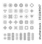 big set of geometric shapes.... | Shutterstock .eps vector #351069047