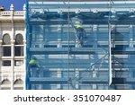 construction workers in ... | Shutterstock . vector #351070487