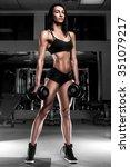 fitness girl in the gym | Shutterstock . vector #351079217