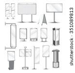 Vector Outdoor Billboard and advertising constructions | Shutterstock vector #351089813