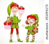 cute little elfes santa's...
