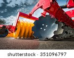 agricultural machinery in... | Shutterstock . vector #351096797
