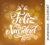 vector spanish christmas text... | Shutterstock .eps vector #351100187