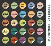 set of colorful round stickers... | Shutterstock .eps vector #351106883