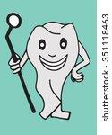 tooth vector illustration | Shutterstock .eps vector #351118463