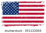 usa american vector flag... | Shutterstock .eps vector #351122003