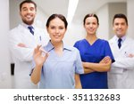 clinic  profession  people ... | Shutterstock . vector #351132683